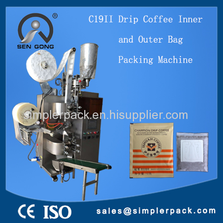 Drip Bag Packing Machine for Cuba Coffee C19-2 manufacturer from