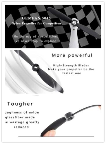 5045 Glass Fiber nylon Props