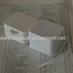 WITHOUT HOOK PULL STRING MUSICAL BOX