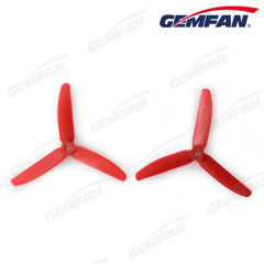 CW CCW 3 blades 5x4 inch Glass Fiber Nylon airplane model Propeller For rc Multirotor