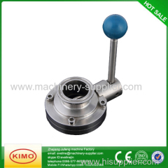 Functional Stainless Steel Butterfly Valve Butterfly Valve For Milk
