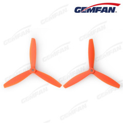 remote control aircraft parts 6040 bullnose glass fiber nylon 3 blades propeller for drone