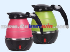 ewest heat-resistant protable foldable silicone water kettle with FDA standard