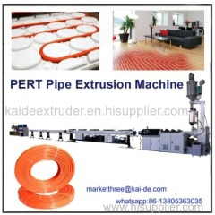 Plastic pipe extruder for PERT heating pipe China supplier