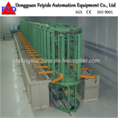 Feiyide Automatic Zinc / Galvanizing Rack Plating Production Line for Metal Parts