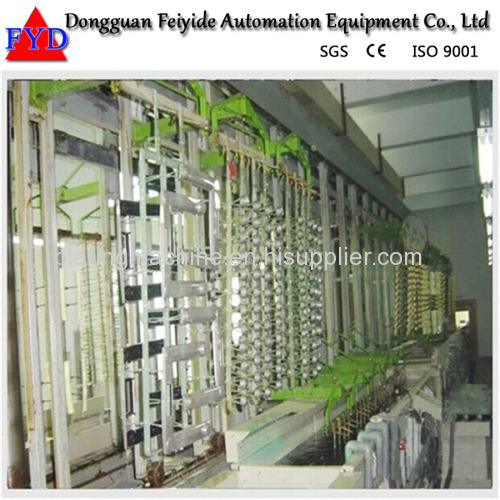 Feiyide Automatic Zinc Rack Plating Production Line for Zipper Puller