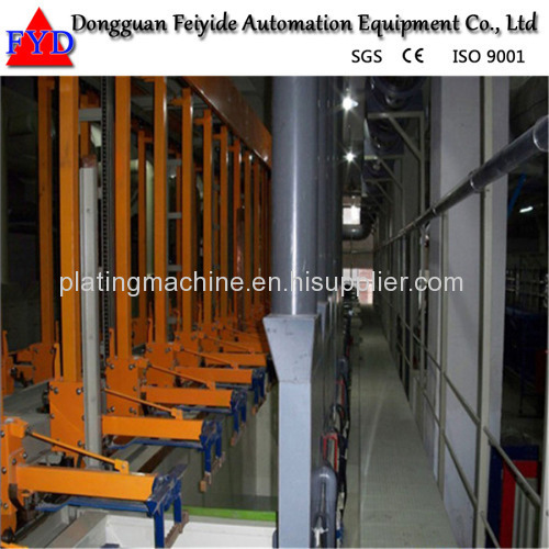 Feiyide Automatic Zinc Rack Plating Production Line for Fastener / Zipper Slider