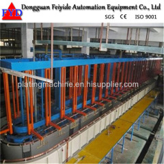 Feiyide Automatic Nickel Rack Electroplating / Plating Production Line for Bathroom Accessory