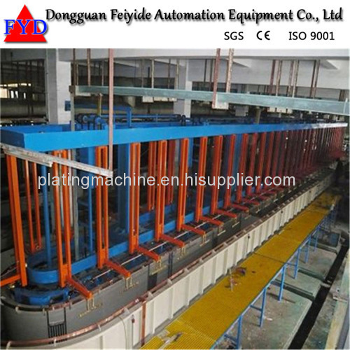 Feiyide Automatic Copper Rack Electroplating / Plating Production Line for Fastener