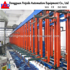 Feiyide Automatic Copper Rack Electroplating / Plating Production Line for Metal Craft