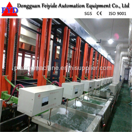 Feiyide Automatic Copper Rack Electroplating / Plating Production Line for Hanges