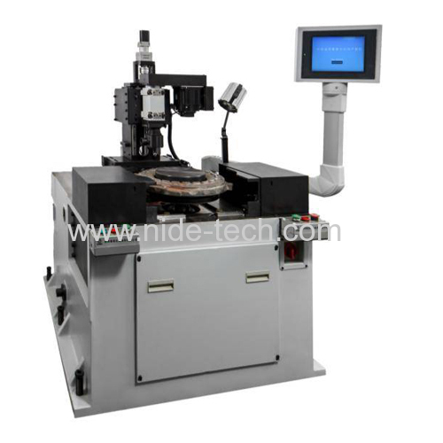 Vertical type rotor automatic armature balancing correction machine