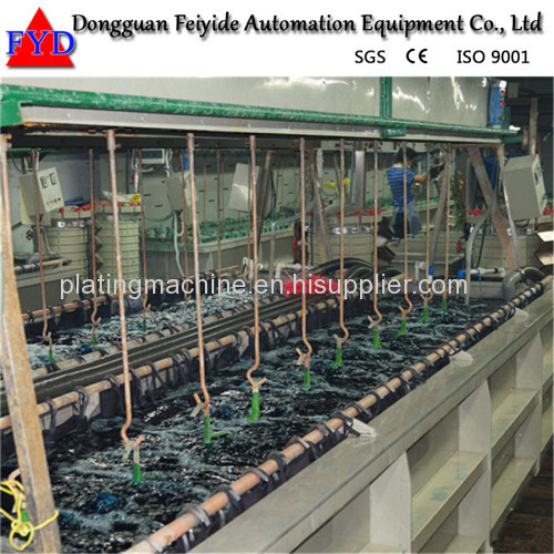 Feiyide Automatic Vertical Lift Zinc Rack Plating Production Line for Zipper Puller