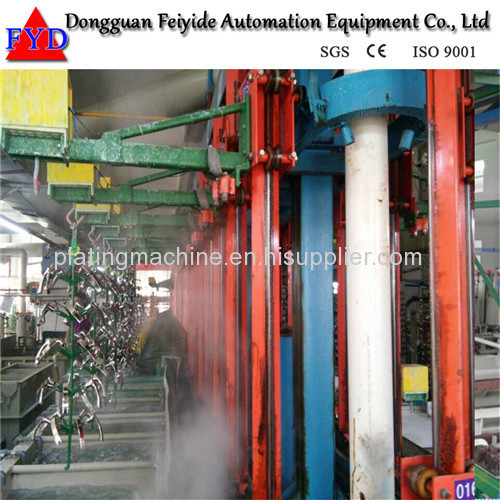 Feiyide Automatic Vertical Lift Nickel Rack Electroplating / Plating Production Line for Metal Parts