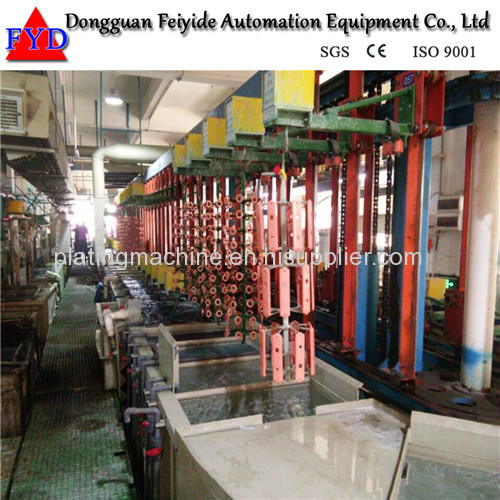 Feiyide Automatic Vertical Lift Copper Rack Electroplating / Plating Production Line for Shower Head