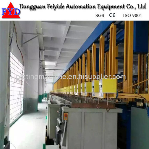 Feiyide Automatic Vertical Lift Copper Rack Electroplating / Plating Production Line for Fastener