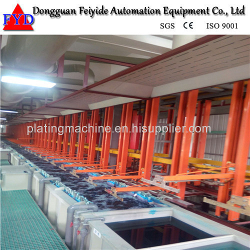 Feiyide Automatic Vertical Lift Nickel Rack Electroplating / Plating Production Line for Shower Head