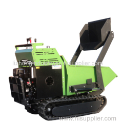 9hp 500kgs load capacity all hydarulic self-loading mini dumper crawler