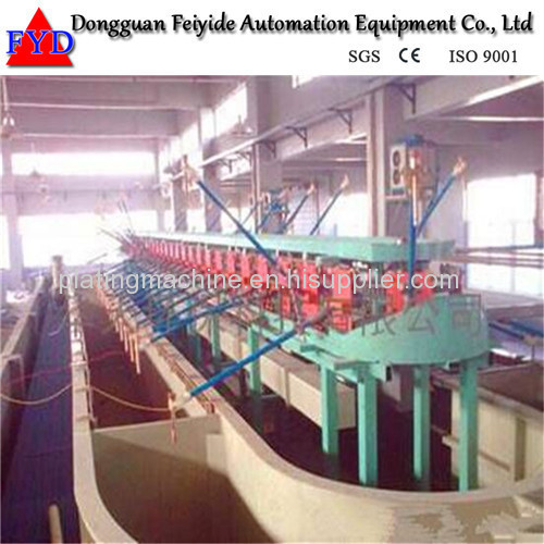 Feiyide Automatic Climbing Zinc Rack Plating Production Line for Zipper Puller