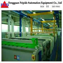 Feiyide Automatic Climbing Copper Rack Electroplating / Plating Production Line for Metal Parts