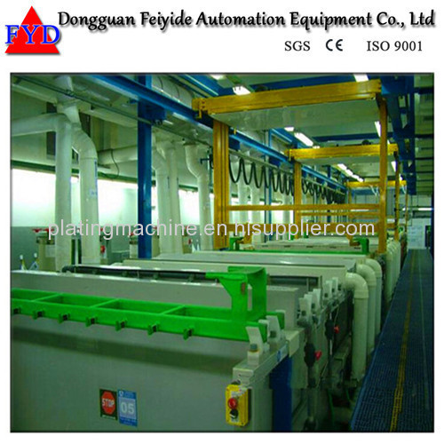 Feiyide Automatic Climbing Copper Rack Electroplating / Plating Production Line for Hanges