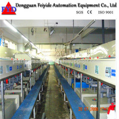 Feiyide Automatic Climbing Copper Rack Electroplating / Plating Production Line for Shower Head