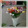 Factory wholesale artificial flower tulipscolor customize bouquet