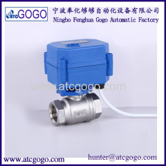 Wholesale mini motorized ball valve 2 way SS electric actuator valve
