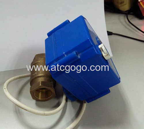 2 Way motorized ball valve with manual override for HVAC