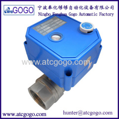 2- way electric ball valve with manual override stainless steel motorized water valve
