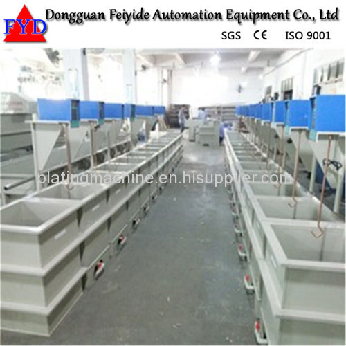 Feiyide Manual Nickel Rack Electroplating / Plating Production Line for Hanges