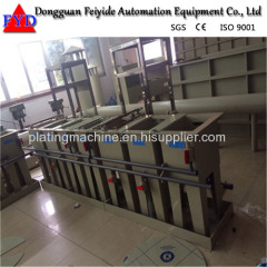 Feiyide Manual Nickel Rack Electroplating / Plating Production Line for Shower Head