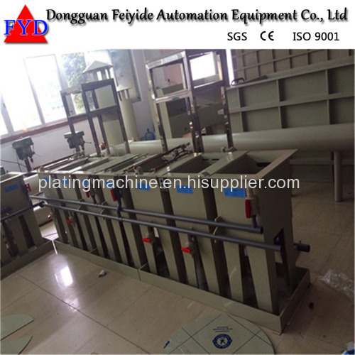 Feiyide Manual Galvanizing Rack Plating Production Line for Zipper / Zipper Head