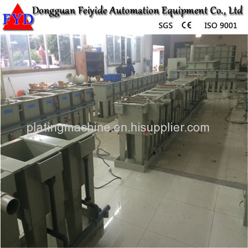 Feiyide Manual Zinc Rack Plating Production Line for Fastener / Zipper Slider