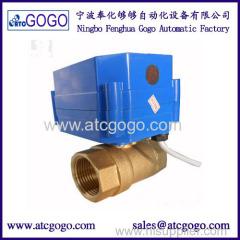 2 way motorized ball valve 6N.m motor actuated valve brass shut off valve
