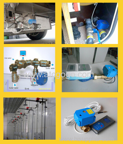 2 way motorized ball valve 6N.m motor actuated valve SS automatic valve