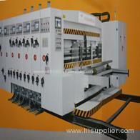 Vacuum adsorption lead edge feeding flexo ink printing die-cutting machine