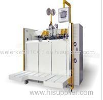 Vacuum adsorb semiautomatic covering machine