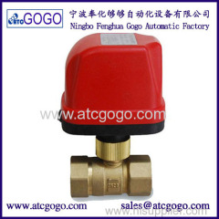 2 way motorized ball valve 3.5N.m electric operated valve brass quick installation valve