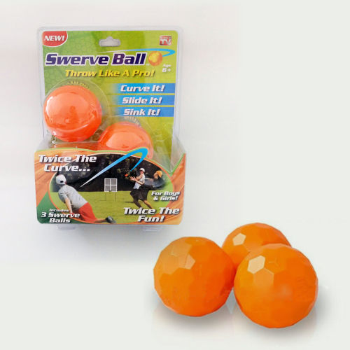 3pcs pack Swerve Ball of Toy baseball orange color