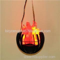 10W HANGING SILK FLAME EFFECT LED DECORATION LIGHT IN SCIMITAR SHAPE
