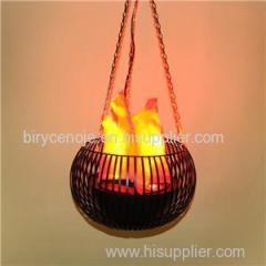 Melon Shape Silk Effect Decoration Hanging Flame Light