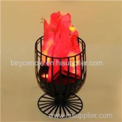 NIGHT BAR DECORATION ELECTRONIC LED TABLE FLAME EFFECT LIGHT IN WINE CUP SHAPE