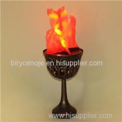 GOOD QUALITY HOME DECORATION 10W ANTIQUE LED TABLE SILK FLAME EFFECT LIGHTING