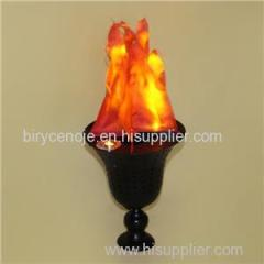 HOT SALE DECORATIVE LED TABLE SILK FLAME LIGHT IN TRUMPET SHAPE