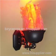 10W BRASIER SHAPE ARTIFICIAL SILK EFFECT WALL TYPE FLAME LIGHT