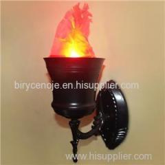 10W CYLINDER SHAPE ARTIFICIAL SILK EFFECT HANGING FLAME LIGHT
