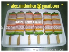 Frozen Seafood Salmon Skewer / Seafood Mix