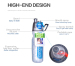 500ml Outdoor sport spray bottle fine mist reusable and portable