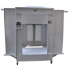 Manual Powder Coating Spray Booth with Tracks Cartridge Filter Recovery System